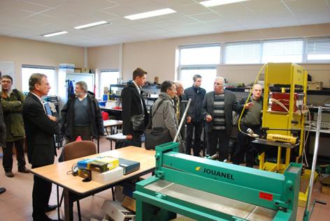 Visite d'une délégation R&D de la SNCF
