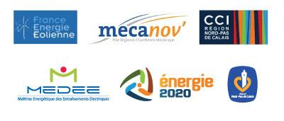 Les renconntres de l'Eolien en partenariat avec France Energie Eolienne - Mecanov' - CCI Région Nord-Pas-de-Calais - MEDEE - Energie 2020 - Région Nord-Pas-de-Calais