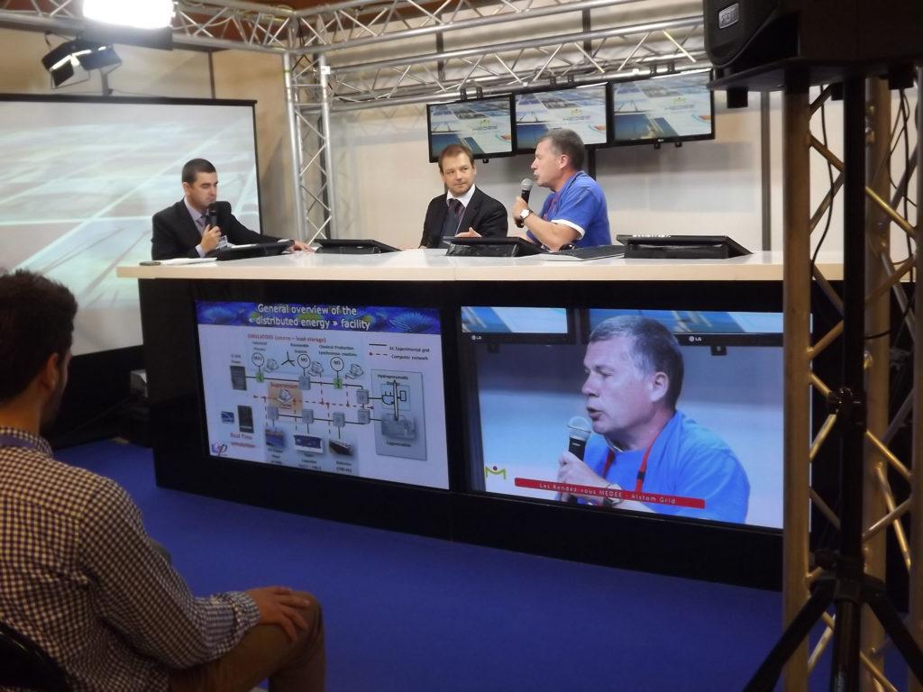 Intervention de M. Schmitt, VP d'Alstom Grid et le Professeur Guillaud (ECL)