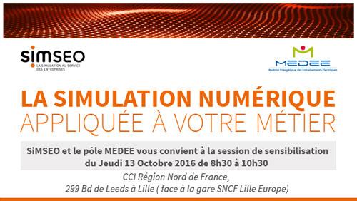 Atelier Simseo/Medee : La simulation numerique appliquée à votre métier