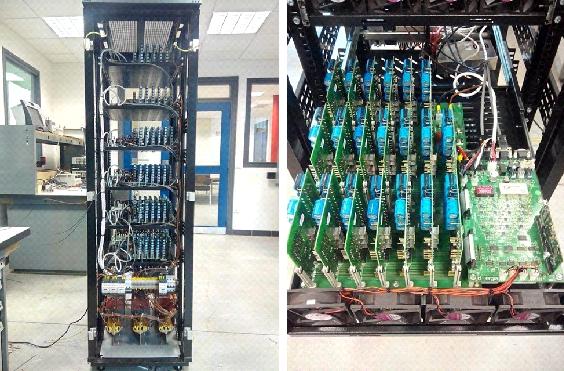MMC converter dedicated to transmission grids including HVDC networks