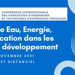 Colloque Eau, Energie, Electrification dans les pays en développement
